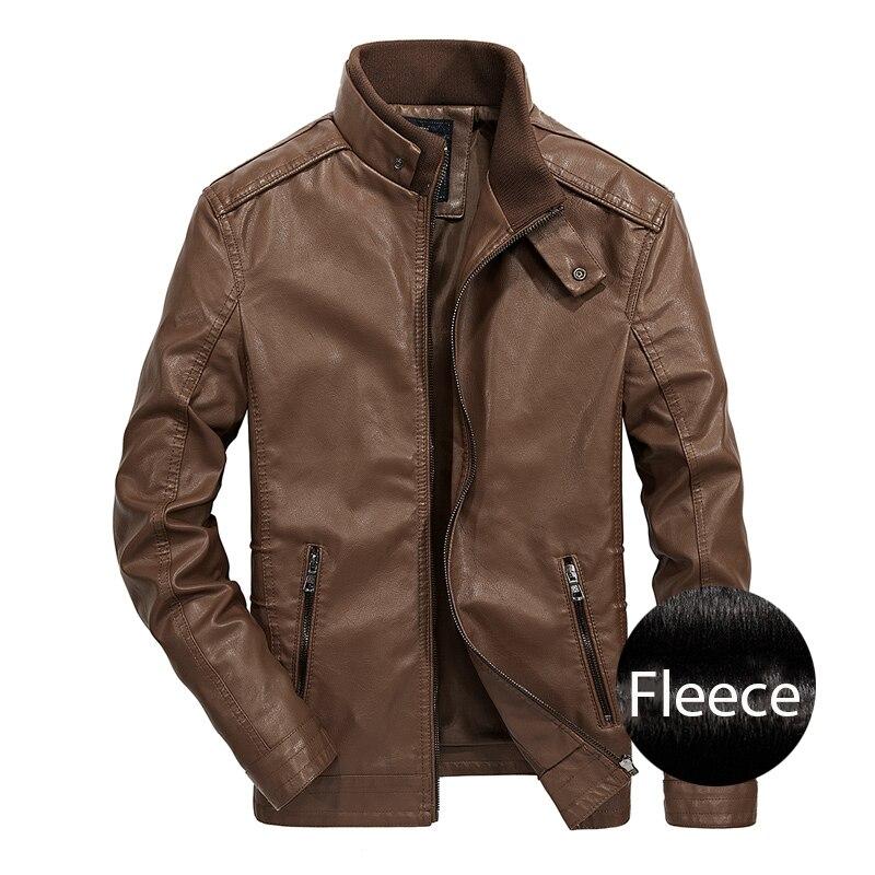 Mens Leather Jacket Motorcycle Faux Leather Men Jackets  jaqueta de couro Winter Coat Men Warm PU Leather Jackets,ZA243