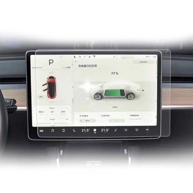 15 Inch Car Screen Protector Clear Tempered Glass Screen Protector For Tesla Model 3 Navigation Protection