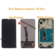 Huawei onur 10 Lite için LCD ekran + dokunmatik ekran digitizer bileşen çerçeve onarım parçaları ile