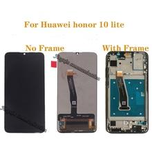 Para Huawei honor 10 Lite LCD display + componente de Digitalizador de pantalla táctil con piezas de reparación de Marco