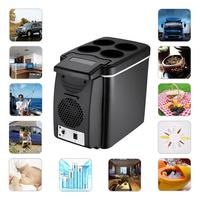 Car Interior Supplies Accessories 12V 6 Liter Car Mini Fridge Lightweight Dual Use Insulated Cool Box Container