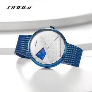 Image 2 - Sinobiブランドファッションクリエイティブメンズクォーツ時計ミラノストラップ腕時計高級ビジネス腕時計スポーツ腕時計レロジオmasculino