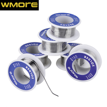 цена на WMORE soldering Tin wires 0.4/0.6/0.8/1.0/1.2/1.5MM solder wire roll 60/40 flux 2.0% high grade lead Tin Wire Melt Rosin Core