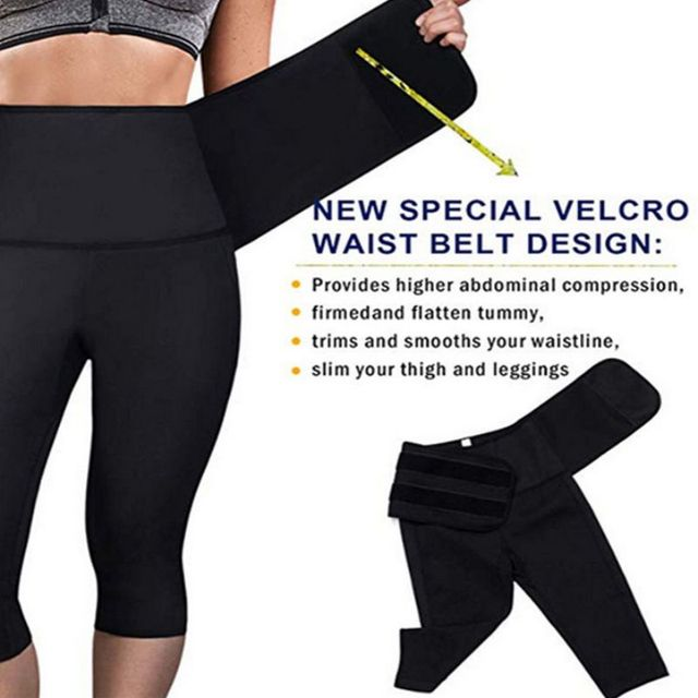 Thermal Sweat Neoprene Slimming Shaping Sauna Belts Yoga Set Gym Clothes Running Tights Women Sports Pants Fitness Yoga New 5