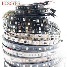 Bande lumineuse RGB Led intelligente, DC12V WS2811, 1m/3m/5m, 30/48/60 diodes/m, 5050 SMD, WS2811IC, PCB, noir/blanc