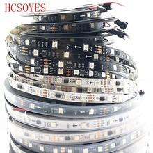 Dc12v ws2811 1m/3m/5m 30/48/60leds/m 5050 smd rgb pixel inteligente led tira endereçável ws2811ic preto/branco pcb