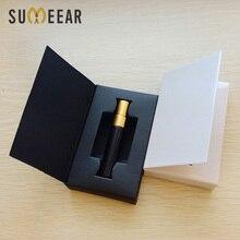 Botella de perfume con atomizador, 100 unidades/lote, 5ml, cajas de embalaje y botella de cristal con logotipo personalizable