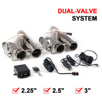 2.25''/2.5'' /3.0'' Stainless Steel Headers Y Pipe Double Electric Exhaust Cutout Dual Valve With Remote Control Cut Out Kit