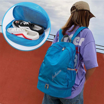 Sports Bags Swiming Backpack Dry Wet Separation Duffel Bag For Gym Swiming Bag Beach Pool Backpack Oxford Bags With Shoe Pocket sports gym bag waterproof travel duffel bag with wet pocket