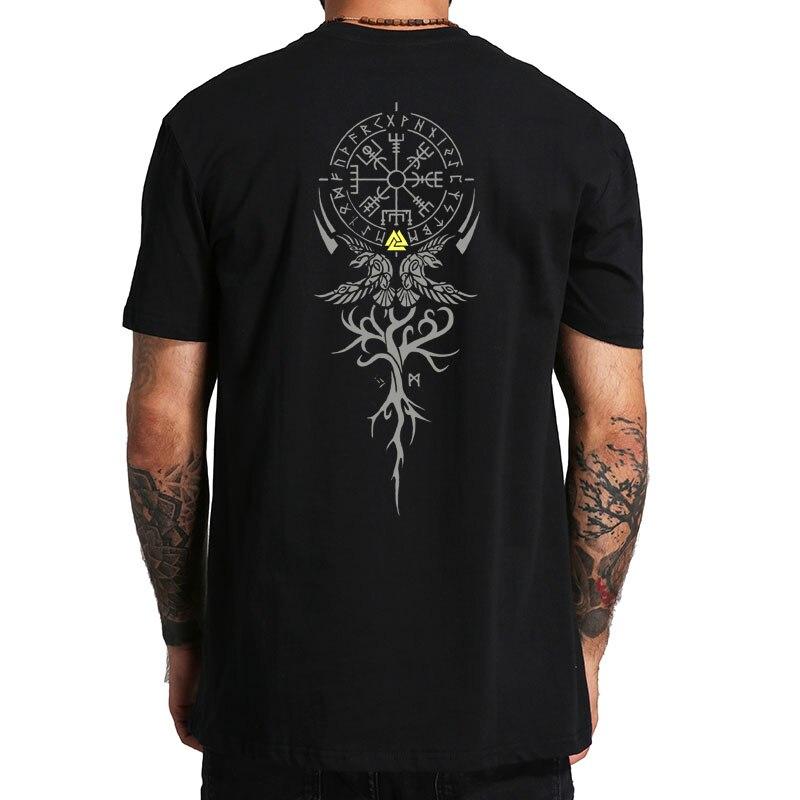 T-shirt Pour femme Avec Inscription Runes Viking Rabe corbeau Yggdrasil Weltesche Valhalla T-shirt montante Walhalla Vikings