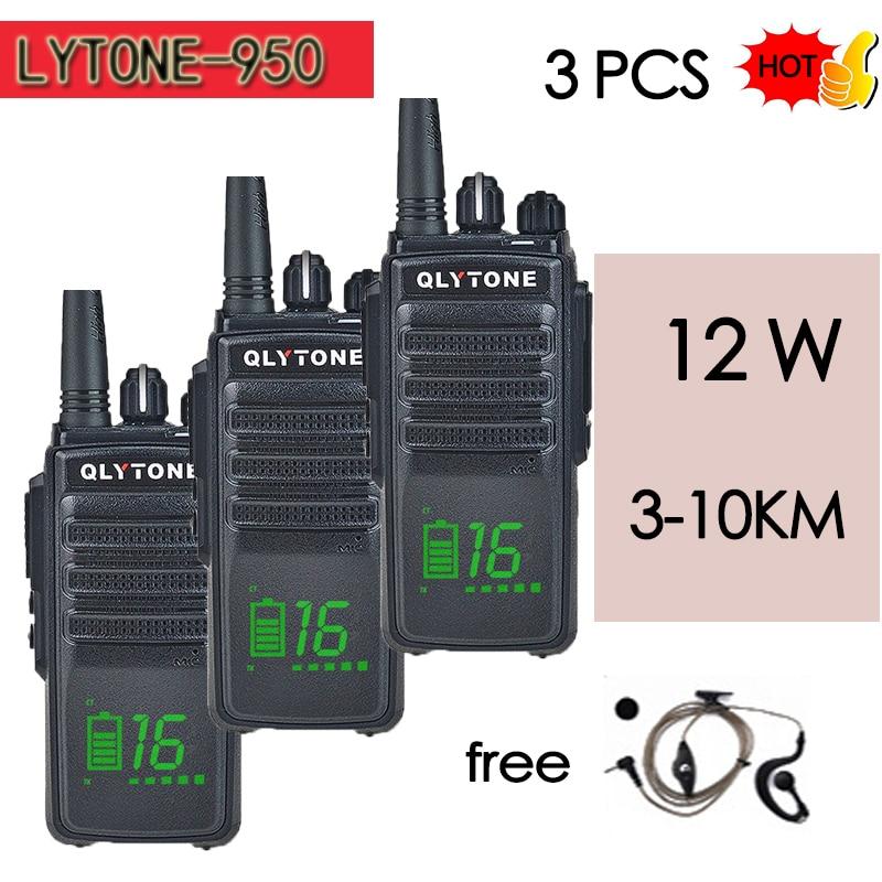 3PCS LYT950 Encryption Walkie-talkie 12W High-power Wireless Professional Civilian Hand 10KM Communicator HF Transceiver