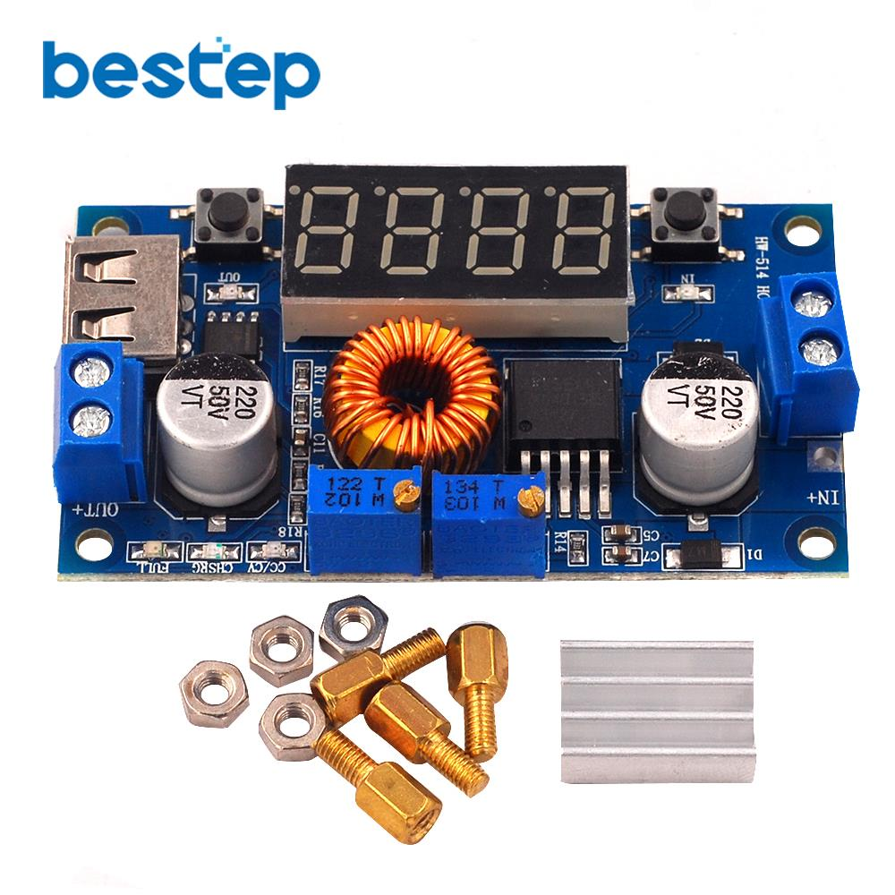 DC-DC XL4015 5A Digital LED Stick Lithum Batterie Ladegerät Modul CC/CV USB Step Down Buck Converter Mit Voltmeter amperemeter