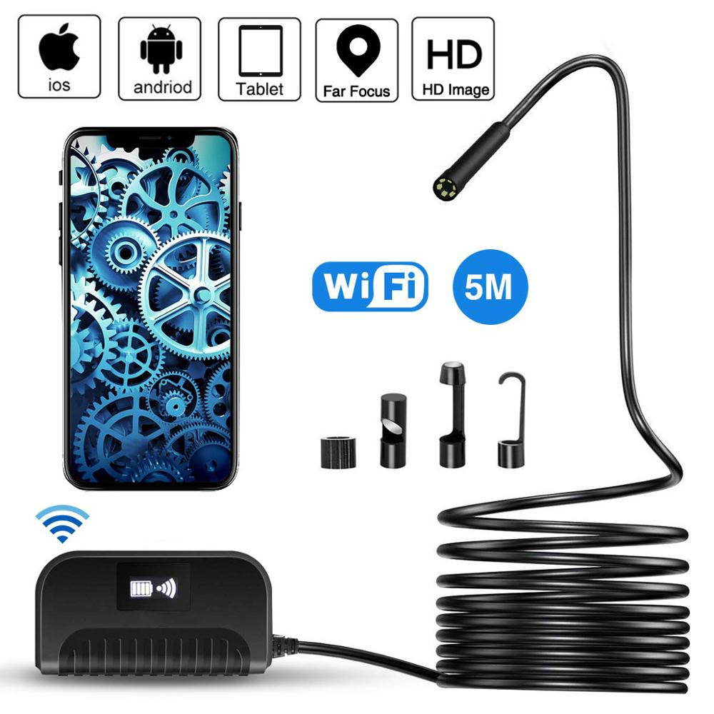 2.0MP Semi-Rigid WIFI Endoscope Camera Mini IP68 Waterproof Inspection Camera 8mm USB Endoscope IOS Endoscope For Iphone Tablet