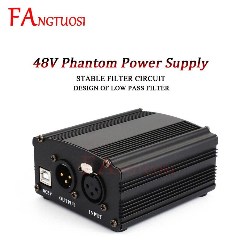 FANGTUOSI Karaoke BM800 Microphone Phantom Power XLR Cannon Cable Studio Mikrofon Phantom Power For BM 800 Condenser Mic