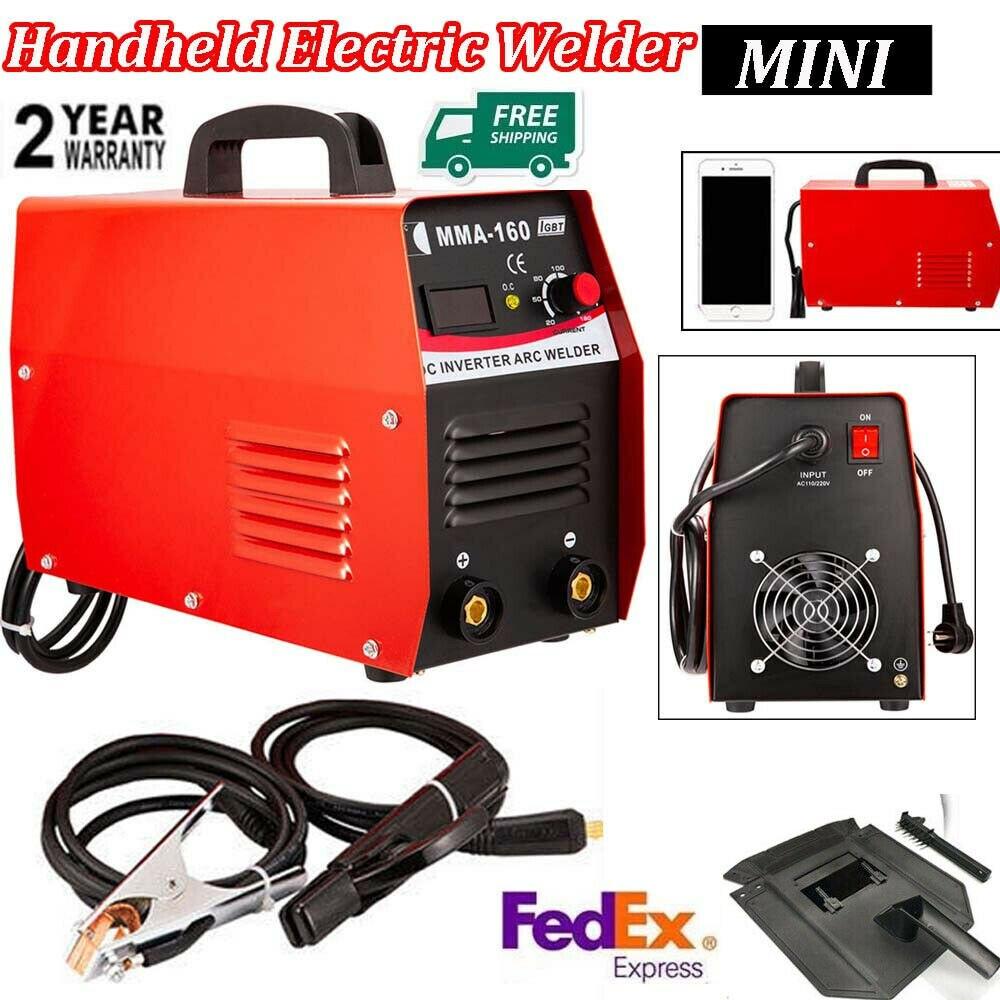 110/220V Inverter Welder Mini Electric Handheld Arc Beginner Lightweight Welding Digital Display Machine Tool MMA 20-160A IGBT
