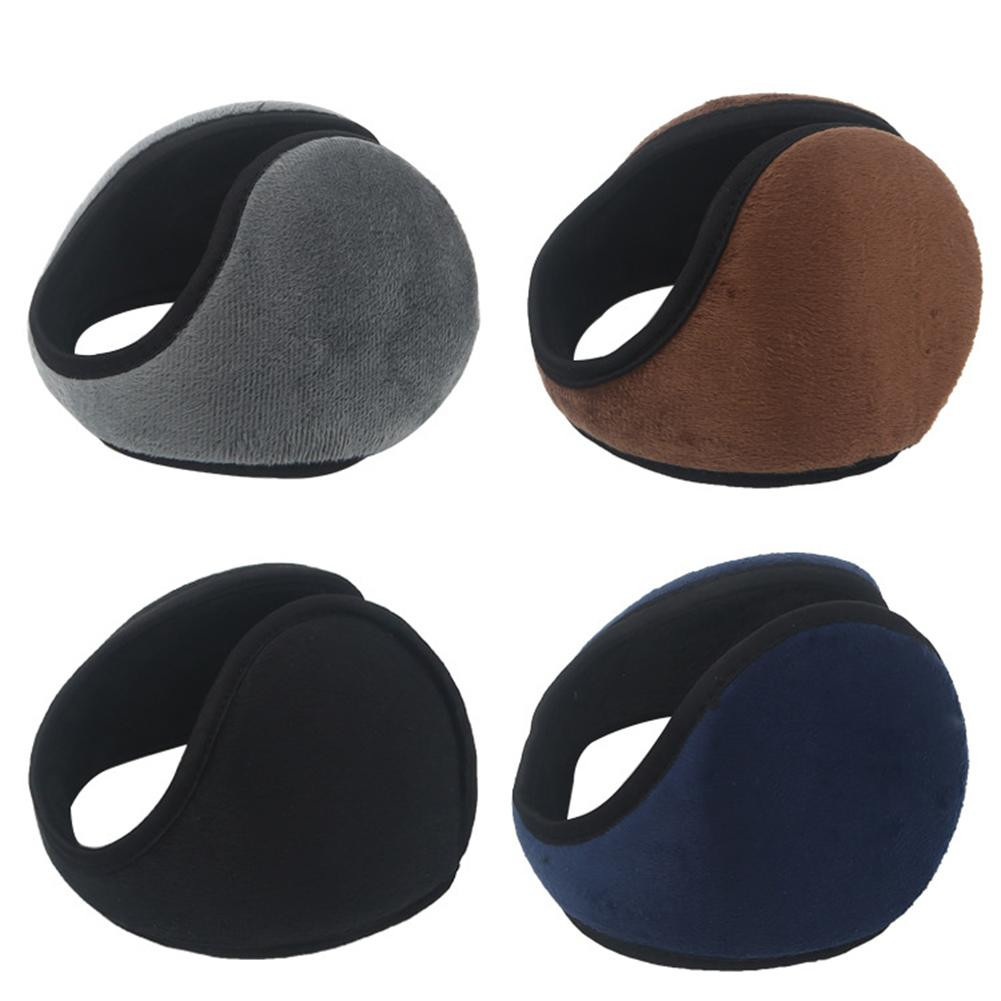 Winter Outdoor Foldable Thicken Fleece Knitted Earmuffs Earcap Ear Warmer Cover Thickened Cold Protection Warm Plush Earmuffs