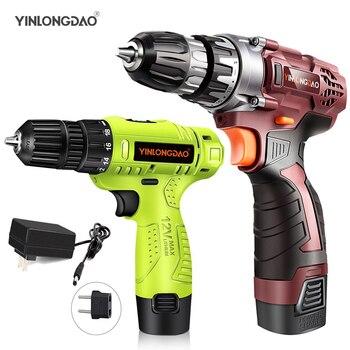 цена на YINLONGDAO Electric Drill Cordless Screwdriver Lithium Battery Mini Drill Cordless Screwdriver Power Tools Cordless Drill DIY