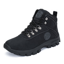 купить Fur Boots Winter Shoes Men Outdoor Snow Boots Safty Military Boots Army Boots Ankle Warm Shoes Casual Flat Shoes zapatos hombre по цене 1768.31 рублей