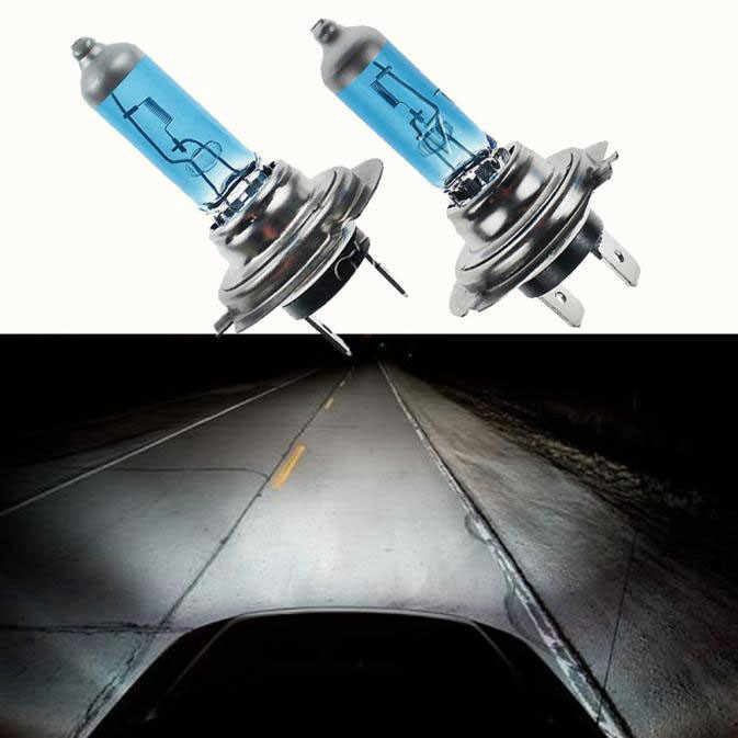 2PCS H7 55W/100W 12V 6000K Gas Headlight White Light Lamp Bulbs Practical and Durable High Quality #N