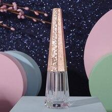 1 pz forma geometrica cono vuoto trasparente lucidalabbra contenitore portatile fai da te balsamo per labbra liquido rossetto tubo Dispenser bottiglia all'ingrosso