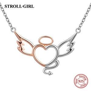 Image 5 - StrollGirl Nuovo 925 In argento Sterling ala di angelo della collana della catena della piuma del mestiere di diy dei monili di modo per Le Donne 2019 regali di Nozze