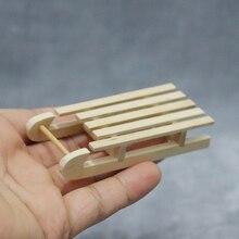 M02-X053 детский подарок игрушка 1:12 кукольный домик мини миниатюрная мебель rement твердые деревянные сани 1 шт