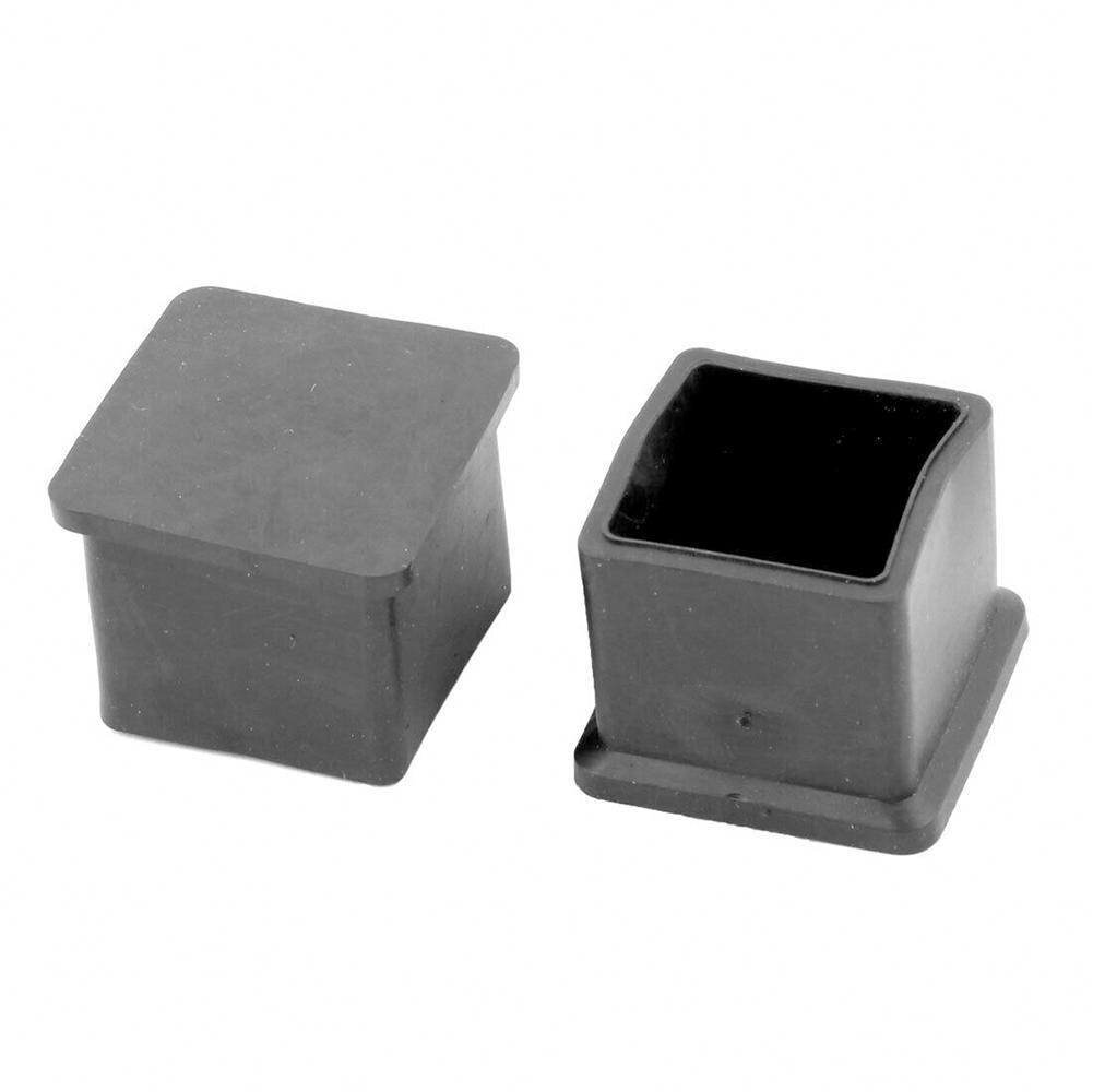 1 PCS Square Chair Leg Caps Black Anti-Slip Chair Leg Stool Floor Leg Furniture Chair Feet Table Cube Protectors Covers P5D7