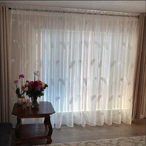Image 5 - ためエレガントな羽キッチンカーテンベッドルームの家の装飾ウィンドウ既製カーテンカスタマイズ