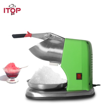 ITOP Semi-automatic Electric Ice Crusher Shaver Smoothie Cocktail Maker Stainless Steel Block Breaking Machine CE