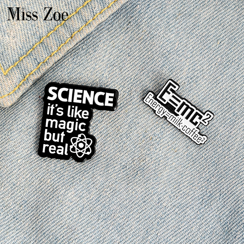 Science is Magic but real Enamel Pin Custom Brooches Fun Energy Quote Badge for Bag Lapel Pin Buckle Jewelry Gift for Friends 1