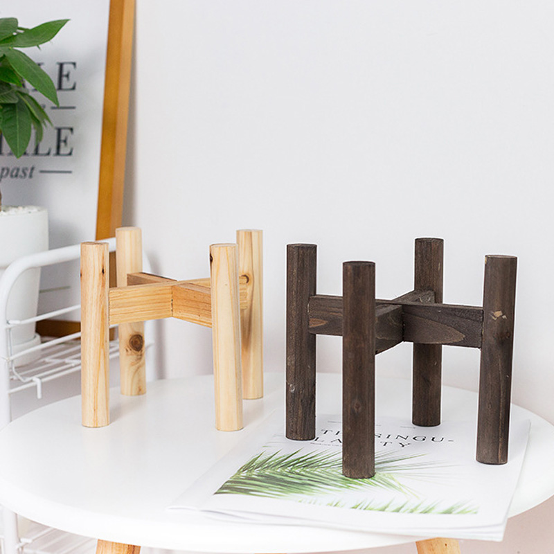 Flower Plant Shelves Garden Wooden Plant Stand Pot Rack Stand Wood Display Shelf Potted Storage Rack Holder Decorations