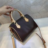 Classic Designer Handbag 3 Size Speedy Genuine Leather Shoulder Bag 2019 Monog Brown City Handbag Tote G Bag Dropshipping