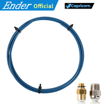 Capricorn Bowden PTFE Tubing XS Serie 1M+1Pcs Quick Fitting+1Pcs Straight Pneumatic Fitting Push 1.75mm Filament 3D Printer Part