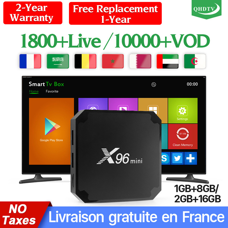 X96 Mini IPTV France Box 1 Year QHDTV Code Android 7.1 Arabic Germany IPTV Box X96mini IPTV Box Belgium French Netherlands IP TV