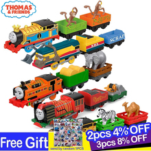 Original Thomas and Friends Motorized Train 1:43 Diecast Car Toys for Children Carro Electric Trains Car Toy  Birthday Gift