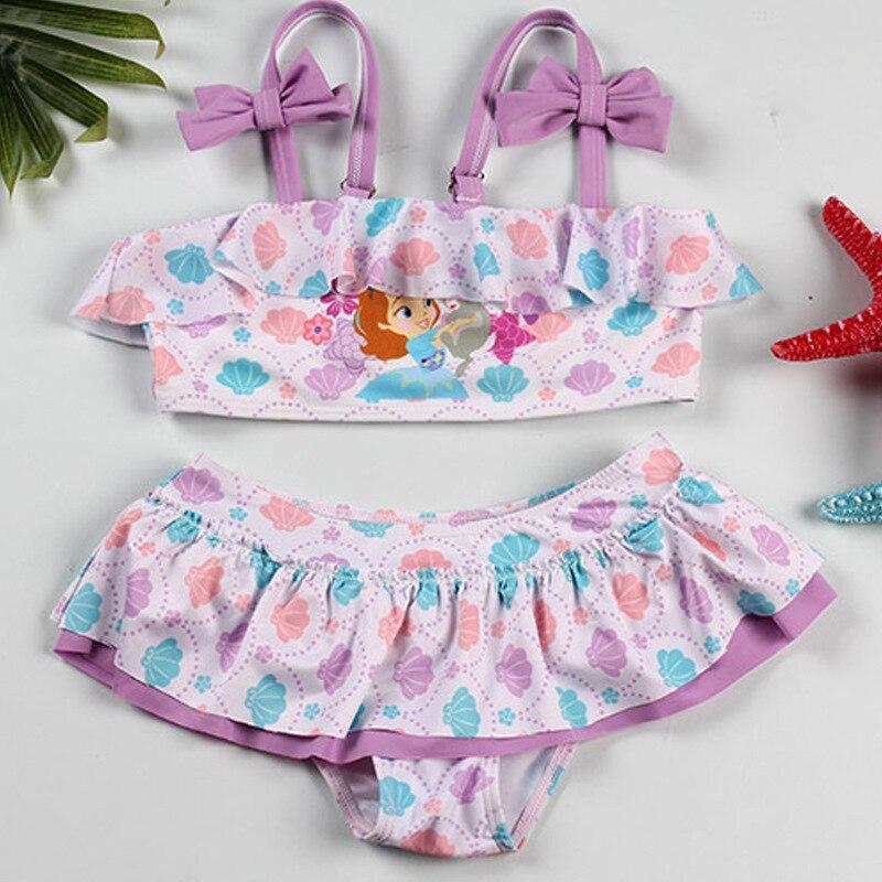 PA Yasen New Style KID'S Swimwear Fashion Cute Cartoon Split Type Two-Piece Set GIRL'S Swimsuit 1966