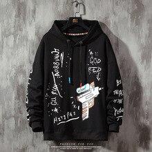 Graffiti Hoodie Men print Pullover Harajuku 2020 s