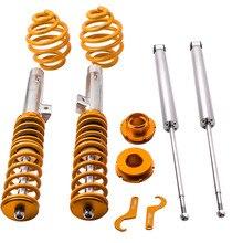 Regulowany gwintowane zawieszenie zestaw do BMW 330i 330Ci E46 amortyzator dla 3 serii 320i 323i 323Ci 325Ci amortyzator przedni tylny