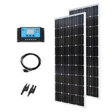 XINPUGUANG 200w solar kit system 2 set 100w 18v panel modul mit mc4 stecker für dach auto caravan home 12v batterieladung