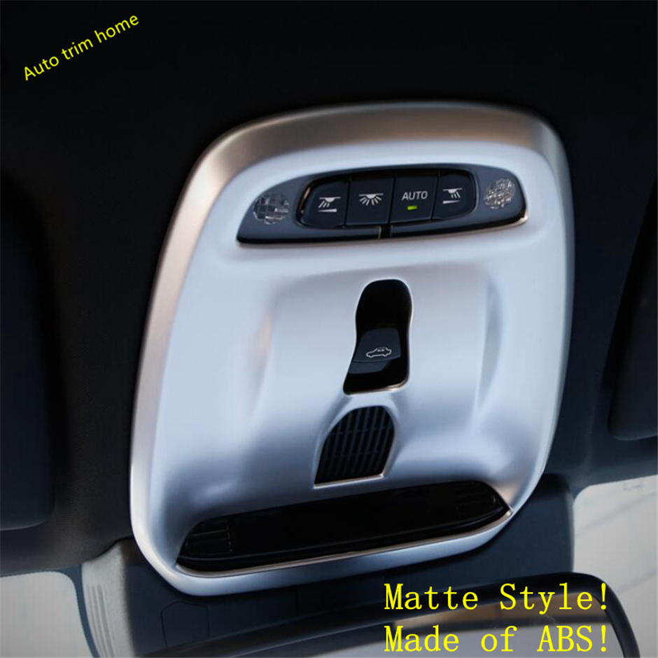 Matte Interior Front//Rear Reading Light Lamp Cover Trim Fit For Toyota RAV4 2016