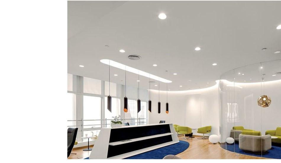 12W 85-265V AC Ceiling Light White Aluminnum Indoor Lighting Led downlight Dimmable COB Spot Lamp Knob Switch Foyer Spotlights (18)