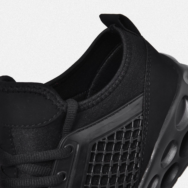 Zapatillas de correr para hombre y mujer, zapatos deportivos transpirables con cordones de alta calidad para caminar al aire libre 4
