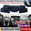 Для Toyota Prius V α Daihatsu Mebius 2012 2013 2014 2015 2016 2017 2018 2019 ZVW40 Противоскользящий коврик для приборной панели Накладка аксессуары