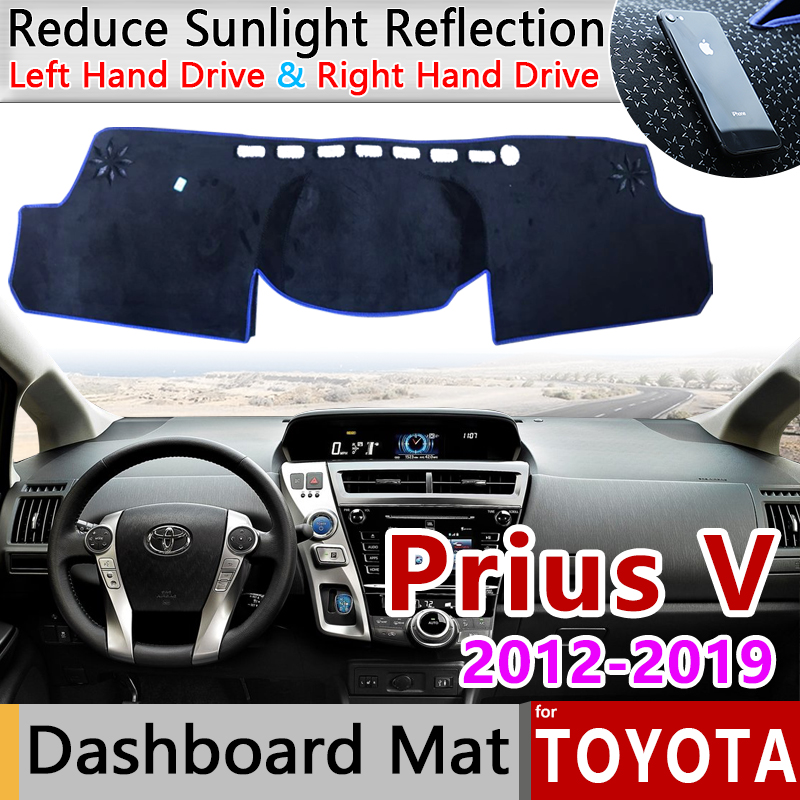for Toyota Prius V      Daihatsu Mebius 2012 2013 2014 2015 2016 2017 2018 2019 ZVW40 Anti-Slip Mat Dashboard Cover Pad Accessories