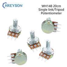 2Pcs WH148 1K 2K 5K 10K 20K 50K 100K 250K 500K 1M Shaft Amplifier Dual Stereo Potentiometer B50K B100K B250K B500K B1M 3Pin 20mm
