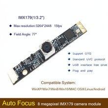 HBVCAM USB camera module CMOS IMX179 8MP 70 Degree Auto Focus Laptop usb camera module for Windows 2000\ Windows XP\Windows 7 andy rathbone windows xp for dummies