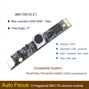 цена на HBVCAM USB camera module CMOS IMX179 8MP 70 Degree Auto Focus Laptop usb camera module for Windows 2000\ Windows XP\Windows 7
