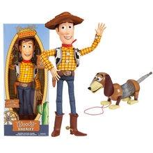 40 cm disney brinquedo história 3 4 falando woody jessie figuras de ação modelo estiramento slinky cão coleção limitada brinquedos crianças brinquedo presente