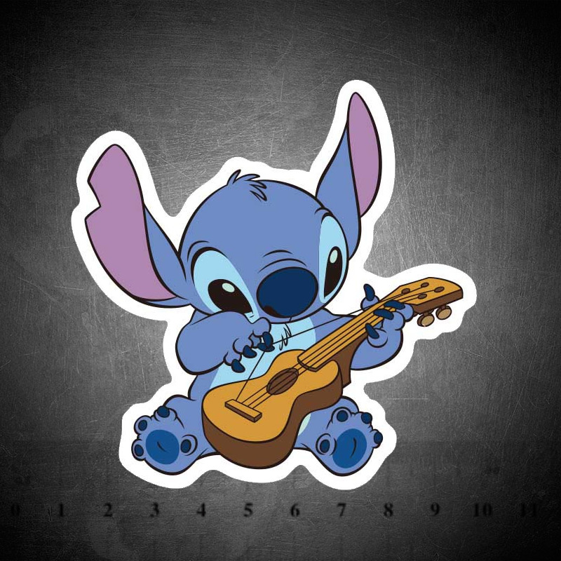Classics Lilo Stitch Cute Cartoon Sticker Scrapbooking Stickers For Luggage Laptop Notebook Car Motorcycle Toy Phone