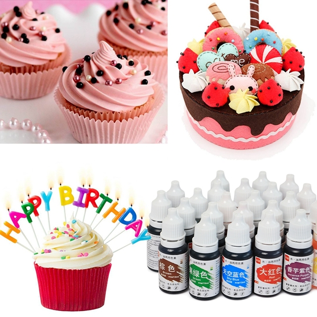Food Coloring 1Pcs 10ML Edible Pigment Healthy Safe Fondant Cake Decorating Tools Macaron Cream Cake Baking & Pastry Tools 3